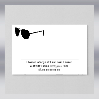Lunetier opticien carte correspondance